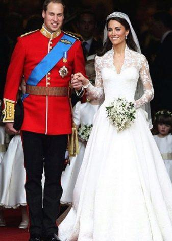 Кружевное дорогое свадебное платье Кейт Мидлтон