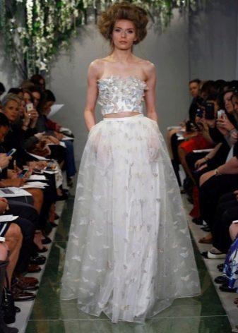 Свадебное платье с  эффектом 3D