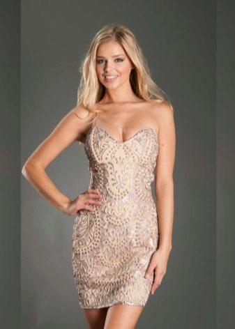 Вечернее платье футляр для невысоких