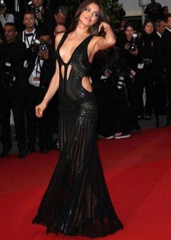 Вечернее откровенное платье Ирины Шейк
