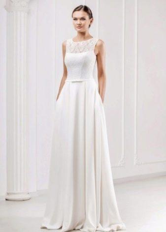 простое свадебное платье от Оксаны Мухи