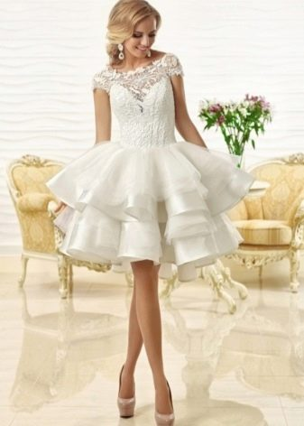 Свадебное платье от Оксаны Мухи короткое