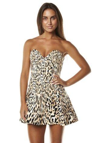 Леопардовое платье длины мини