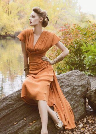 Особенности оранжевого платья