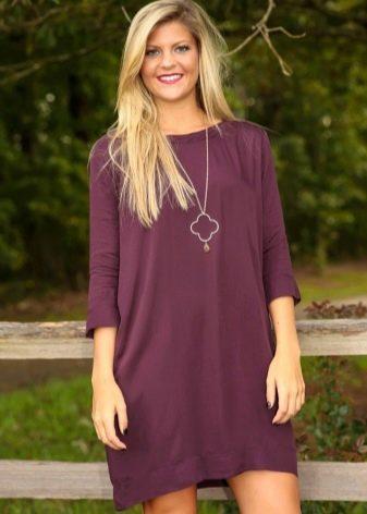 Повседневное платье цвета баклажан