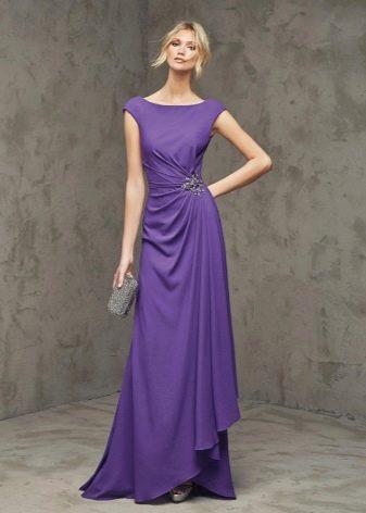 Фиолетовое платье для блондинки