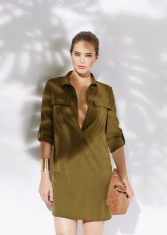 Короткое платье сафари