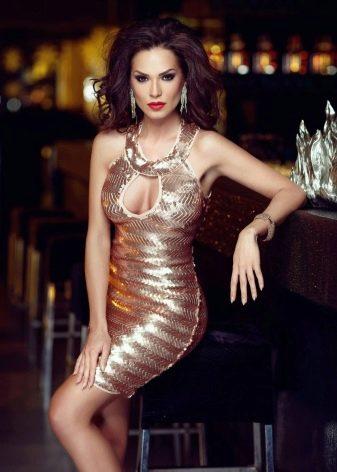 Платье облегающее в стиле диско