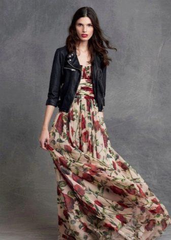 Выбор пиджака к цветастому платью