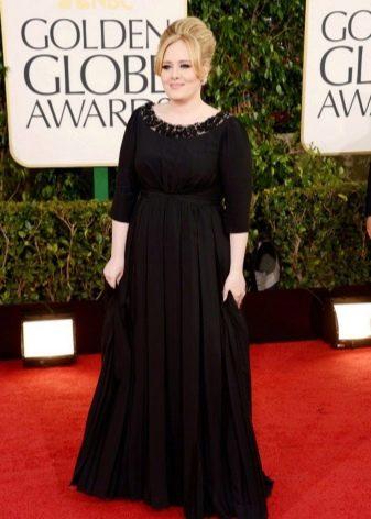Длинное черное в пол платье для полных девушек