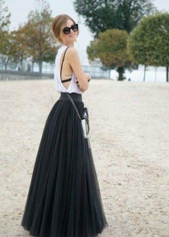 Длинное платье для худых девушек
