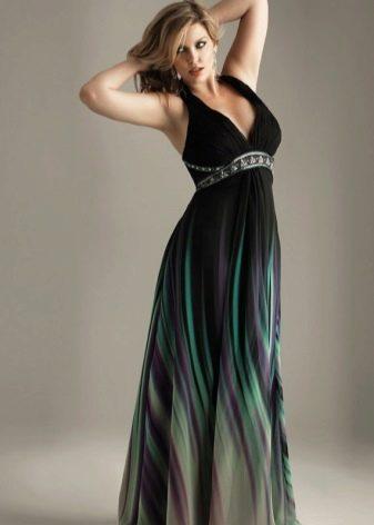 Шифоновое длинное платье для полной девушки