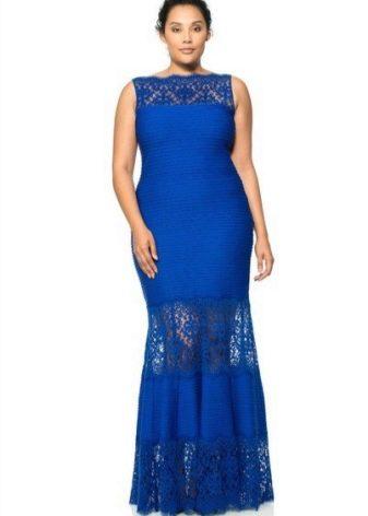 Красивое платье в пол для полных