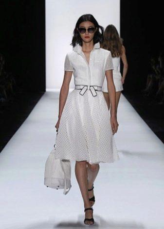 Винтажное платье от Badgley Mischka с рубашечным верхом