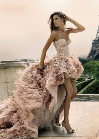 Платье грязно-розовое