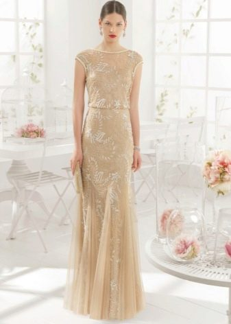 Телесное платье от Аир Барселона