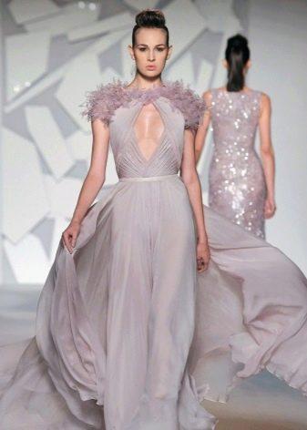 Платье серо-лавандового цвета