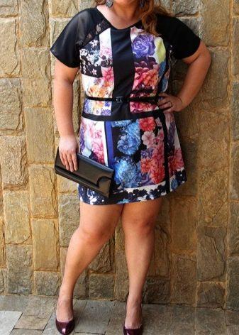 Трикотажное платье туника для полных