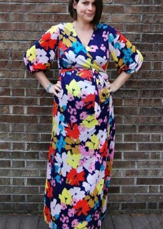Длинное платье в пол с запахом для беременных