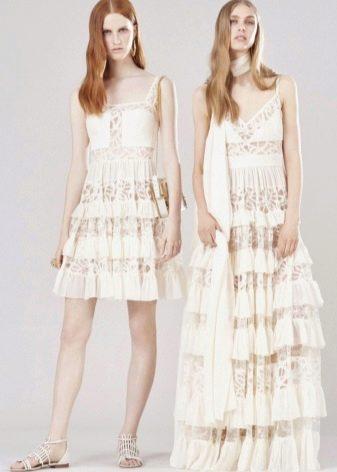 Кружевное платье смок