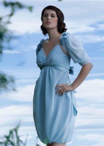 Праздничное платье-баллон из шелка