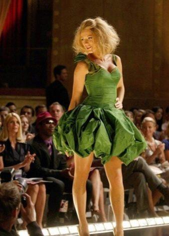 Нарядное платье-баллон из джерси