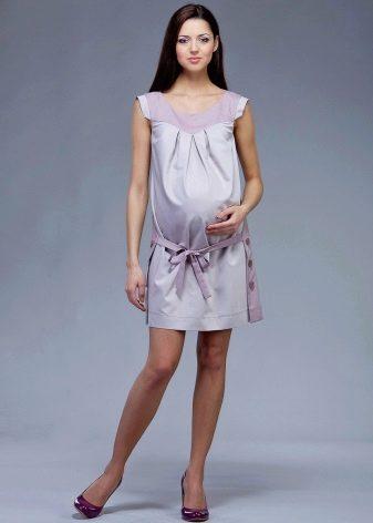 Платье туника с заниженной талией