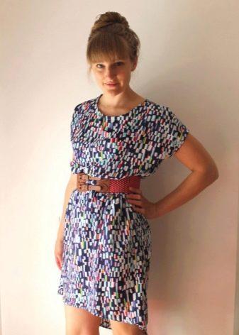 Цветное платье из штапеля