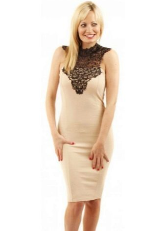 Платье-футляр из вискозы