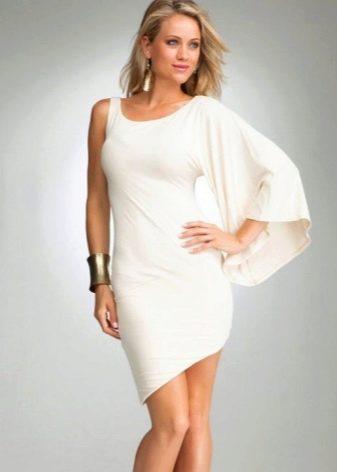 Асимметричное платье из вискозы на одно плечо