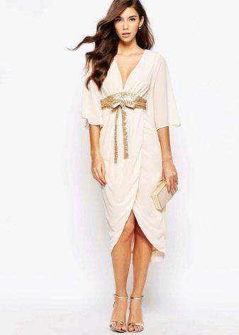 Платье кимоно шифоновое