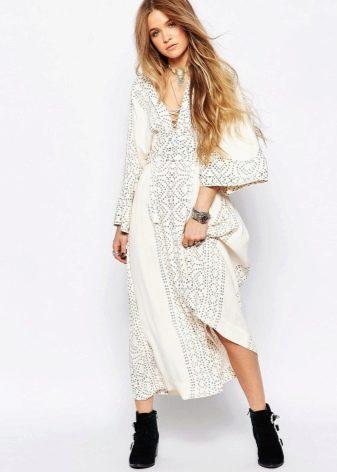 Длинное платье кимоно