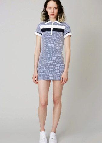 Очень короткое платье-поло