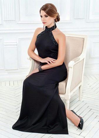 Черное платье с американской проймой