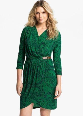 Платье с запахом с рукавом в три четверти
