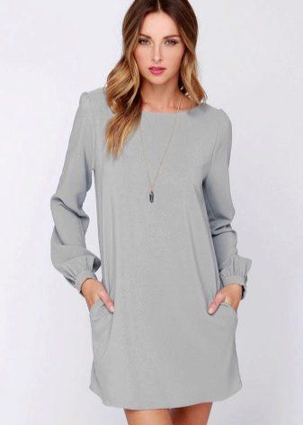 Платье-шифт для стройных