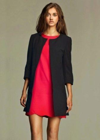 Платье-шифт с жакетом