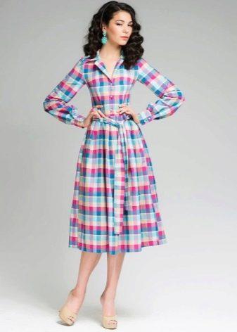 Клетчатое платье Татьянка