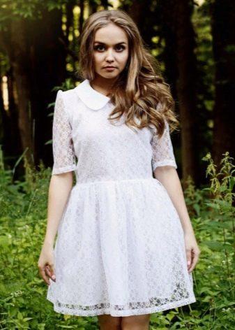 Короткое платье Татьянка из гипюра