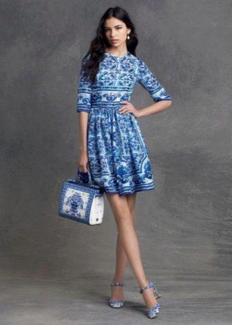 Платье Татьянка с круглым вырезом и рукавом до локтя