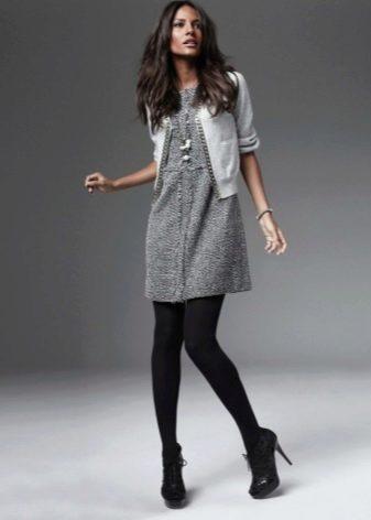 Платье-туника с кардиганом