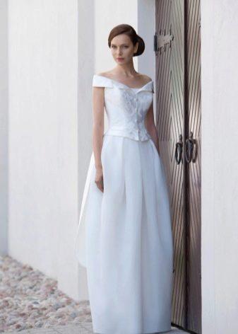 Белое длинное свадебное платье тюльпан