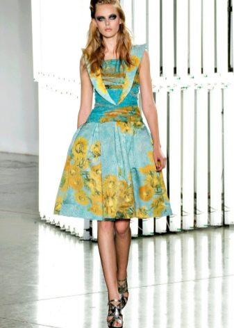Стиляжное цветное платье