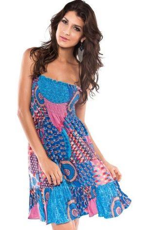 Платье-юбка с этническим рисунком