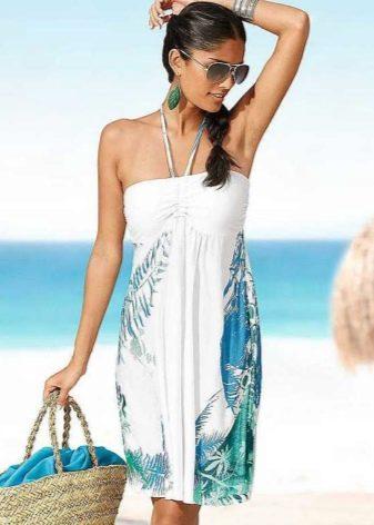 Пляжное платье-юбка и аксессуары к нему