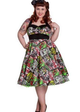 Платье в стиле 50-х для полных