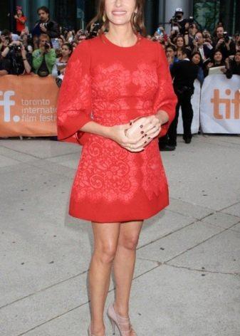 Платье в стиле барокко красное