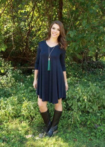 Короткое повседневное платье-туника