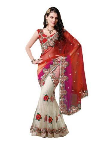 Красное индийское сари