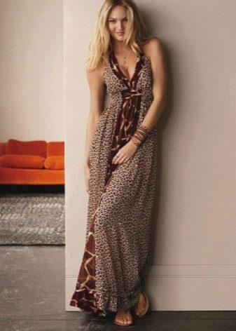 Длинное домашнее платье-сарафан